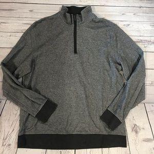 Men's Gray Van Heusen 1/4 Zip Size XL